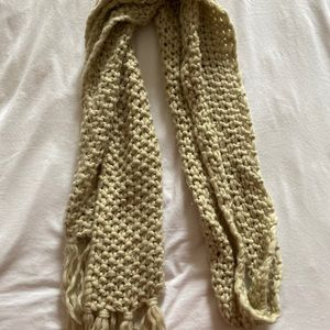 Thick Cream Scarf